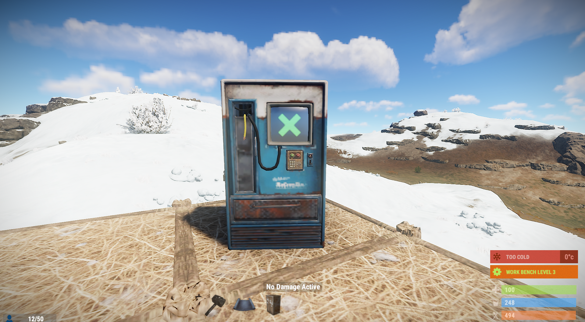 vending machine placed somewhere by itself