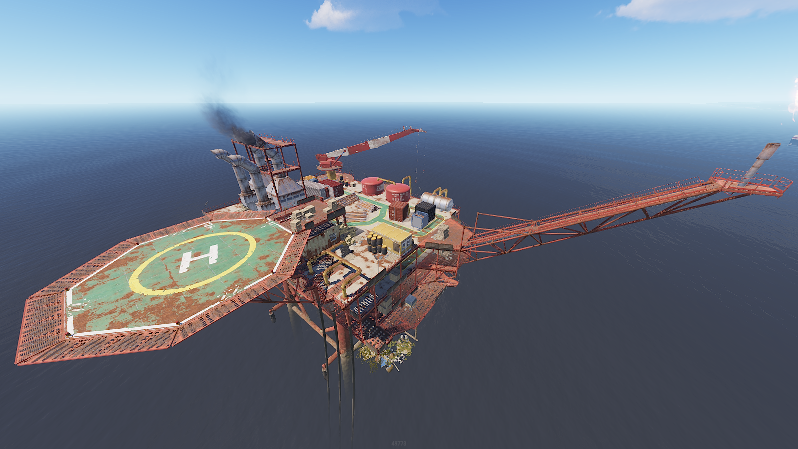 Rust Small Oil Rig Monument Guide 2020